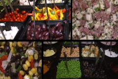 Sequence of salad bar Stock Footage