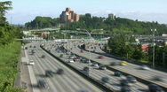 Seattle highway rush hour Stock Footage
