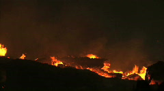 Forest fire burning in Forest - stock footage