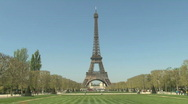 Stock Video Footage of Eiffel Tower in Paris, France - Europe HD