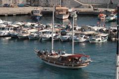 Antalya harbour Stock Footage