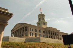 TN Capitol Bldg-Time Lapse-DV NTSC - stock footage