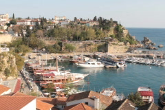 Antalya harbour Stock Footage
