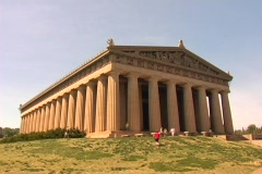 Centennial Park-Parthenon-Time Lapse-DV NTSC - stock footage