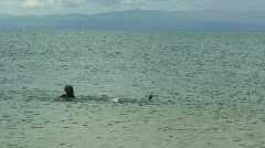 Malawi: african boys playing in a water Stock Footage
