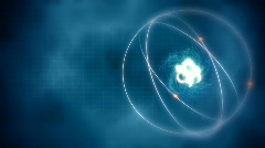 Loop background with atom model Stock Footage