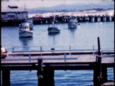 1950's boats on the water 8mm footage Stock Footage