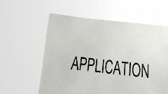 Application accepted - stamp Stock Footage