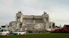 Rome - Altare della Patria Stock Footage