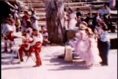 Children 1950's Country Western Singers dancers - stock footage