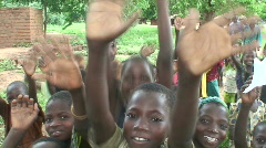 Malawi: happy african children 1 Stock Footage
