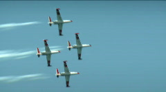 Acrobatic Air Jets 6 Stock Footage