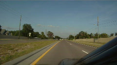 Driving In Florida Suburbia - Two Lane Road Stock Footage