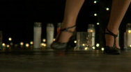 Tango feet woman 2 Stock Footage