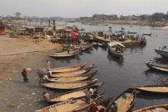 Bangladesh boats 01 Stock Footage
