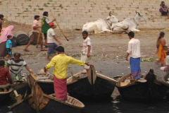 Bangladesh busy port 04 Stock Footage