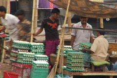 Bangladesh market eggs 01 Stock Footage