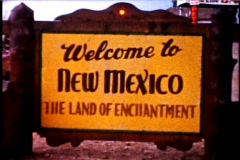 Welcome to New Mexico - stock footage
