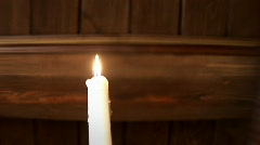 Blowing out the candle 008 Stock Footage