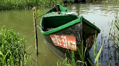 Wooden boat Stock Footage