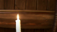 Blowing out the candle 009 Stock Footage