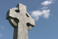 Celtic gravestone. Stock Footage