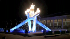 Olympic Flame 2010 Vancouver Stock Footage