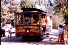 Streetcar 1950's California Trolley 8mm vintage original footage - stock footage