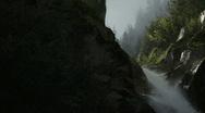 Waterfall in Mountain Stock Footage