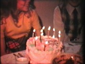 Girl Celebrates 11th Birthday (1976 Vintage 8mm film) Stock Footage