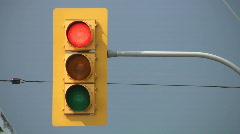 Stop Light turns green. Stock Footage