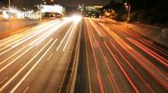 LA City Traffic at Night - Timelapse Stock Footage
