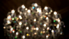 Chandelier out of focus Stock Footage