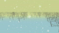 A tour in a mistic snowy forest - 3D Stock Footage