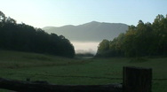 Stock Video Footage of Cades Cove Fog 6