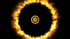 Rings of fire - Alpha Channel Stock Footage