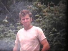 Family Camping Trip (1975 Vintage 8mm film) Stock Footage