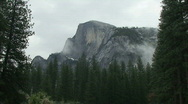 Stock Video Footage of Yosemite, Moody Half Dome-C