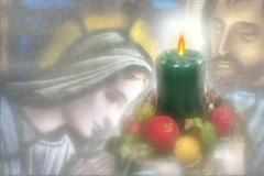 4916 Christmas candle flicker background Stock Footage