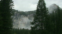 Yosemite, Moody North Dome Wall-A - stock footage