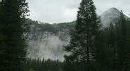 Yosemite, Moody North Dome Wall-A Stock Footage