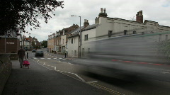 English small town - Taunton 1 Road leading into town Stock Footage