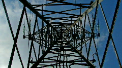 Inside transmission tower - stock footage