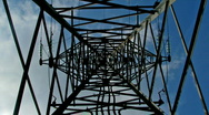 Inside transmission tower Stock Footage