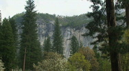 Stock Video Footage of Yosemite, Moody North Wall-B