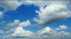 white clouds - stock footage