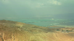 Dead sea view 1 Stock Footage