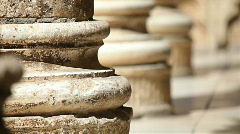 Antique stone pillar Stock Footage