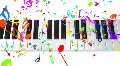 Music keyboard 4b HD HD Footage