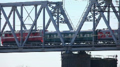 Railway bridge. Stock Footage